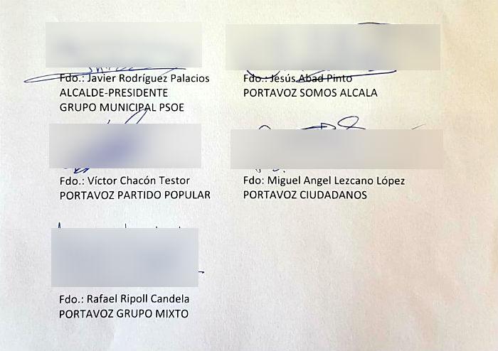 El escrito de petición ha sido firmado por todos los grupos municipales