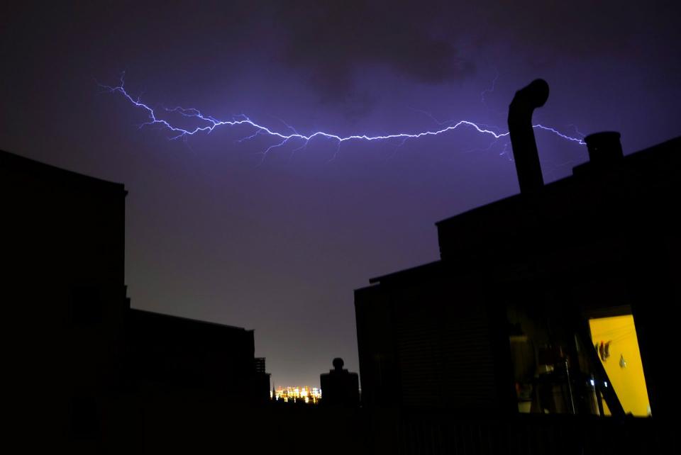 Tormenta eléctrica en Alcalá de Henares