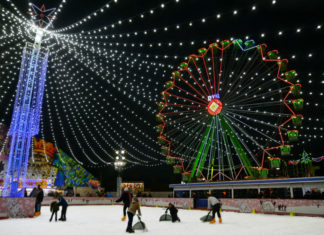 La ciudad de la navidad en el recinto ferial