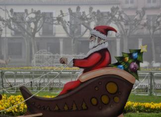 Papá Noel en la ciudad de la Navidad