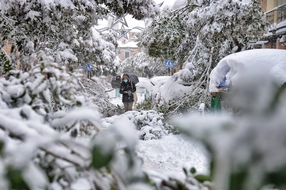 La gran nevada en la calle Santiago