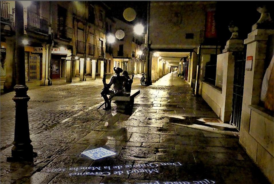Toque de queda cervantino en Alcalá de Henares